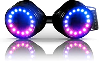 ELECTRIK UNICORN LED Goggles - Light Up Programmable Rechargeable EDM Rave Festival Party Sunglasses