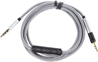 D DOLITY 1.2M Audio Cable Remote & Mic for Audio Technica ATH-M50x ATH-M40x Headphone