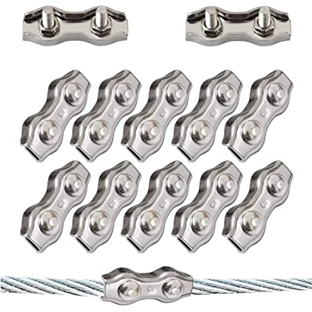 Seilwerk STANKE 100x Seilklemme B/ügelform Gr/ö/ße 2 f/ür 2 mm Drahtseile Verzinkt Seilverbinder Stahlseil