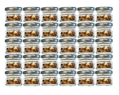 30er Set Sturzgläser Mini Gläser   Füllmenge 30 ml   Deckelfarbe Silber   To 43 Rundgläser Marmeladengläser Obstgläser Einweckgläser Honig Gläser Einmachgläser Probiergläser, Imker
