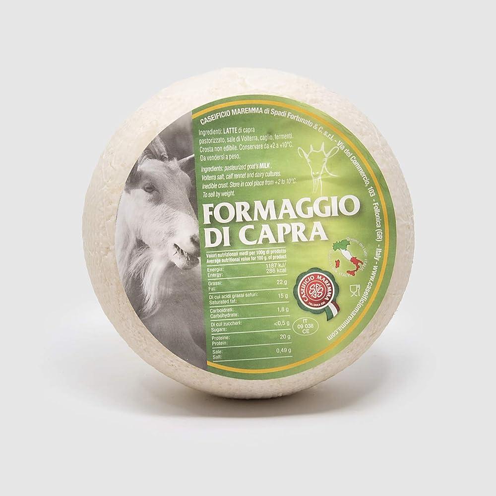 Salumificio artigianale gombitelli formaggio di capra artigianale toscano forma intera sottovuoto da 1 2 kg