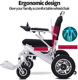 Swseby Deluxe eléctrica silla de ruedas motorizada Fold plegable for sillas de ruedas de energía, peso ligero plegable Llevar Silla de ruedas eléctrica, Potente dual Moto silla de ruedas para mayores