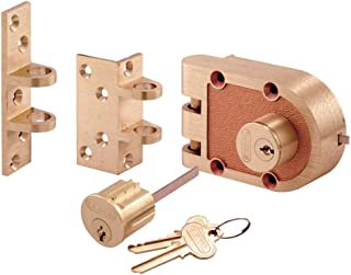 Prime-Line Products SE 19361 Bronze Deadlock with Double Cylinder and Flat/Angle Strike