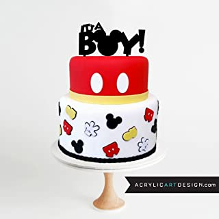 It's a Boy Mickey Cake Topper by Acrylic Art Design