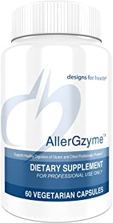 Designs for Health AllerGzyme - Gluten + Dairy Digestive Enzymes with Protease + Bromelain (60 Capsules)