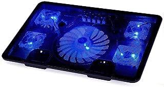 ZUIZUI Notebook kylplatta notebook kylare för 12-15,6 tum notebook 5 fläktar LED-lampor