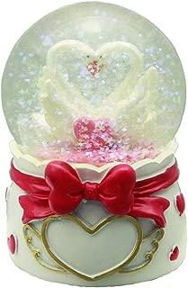 HAAC Bola de Nieve para Bodas 10 x 7 cm dise/ño de Pareja de cisnes o coraz/ón con Purpurina