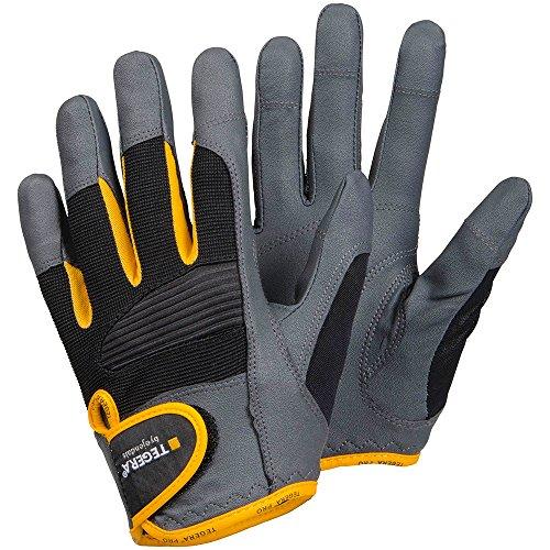 'ejendals Guanto'Tegera 9140in pelle sintetica, taglia 11, 1pezzi, grigio/nero/giallo, 9140–11