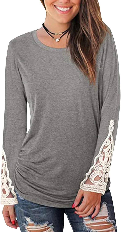 felwors Pullover Tops for Women, Womens Sweatshirt Casual Gradient Crewneck Long Sleeve Loose Kawaii Pullover Tops