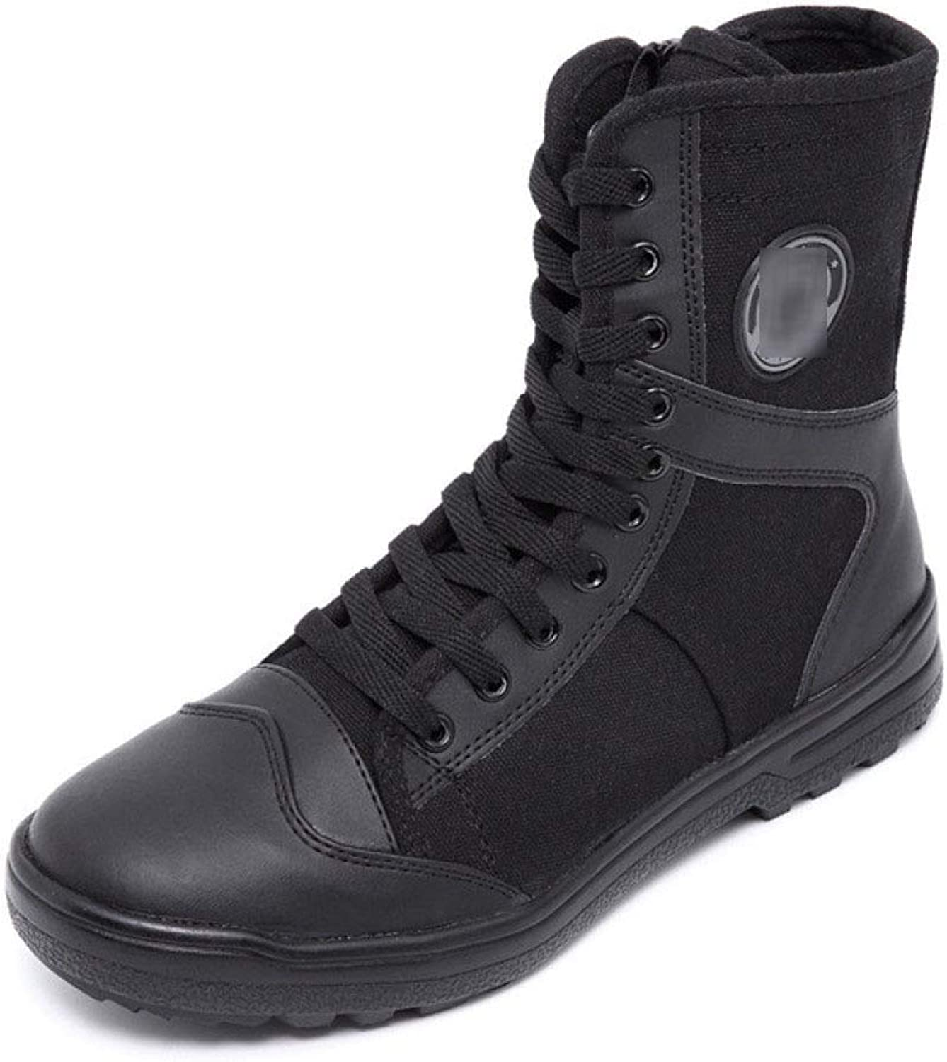QIKAI Tactical Boots Zip Outdoor High-top Training Boots Desert Jungle Hiking Boots Special Forces Tactical Boots