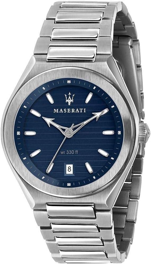 Maserati orologio da uomo, collezione triconic in acciaio inossidabile 8033288880370