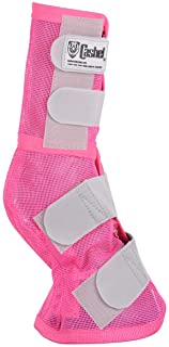 Cashel Designer Horse Fly Leg Guards, Set of Two - Benefit Breast Cancer, Color: Pink - Size: Horse