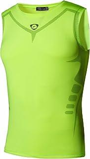 jeansian Men's Sport Quick Dry Compression Tank Tops Vests Shirt LSL3306