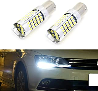 iJDMTOY For 2011-2017 Volkswagen Jetta 6000K Xenon White 68-SMD High Power LED Daytime Running Light Replacement Bulbs (For Haogen Headlamps Trim)