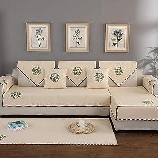 Housse de canapé en Coton et Lin imprimé Grand Arbre Housse de canapé antidérapante antidérapante pour canapé, Fauteuil in...