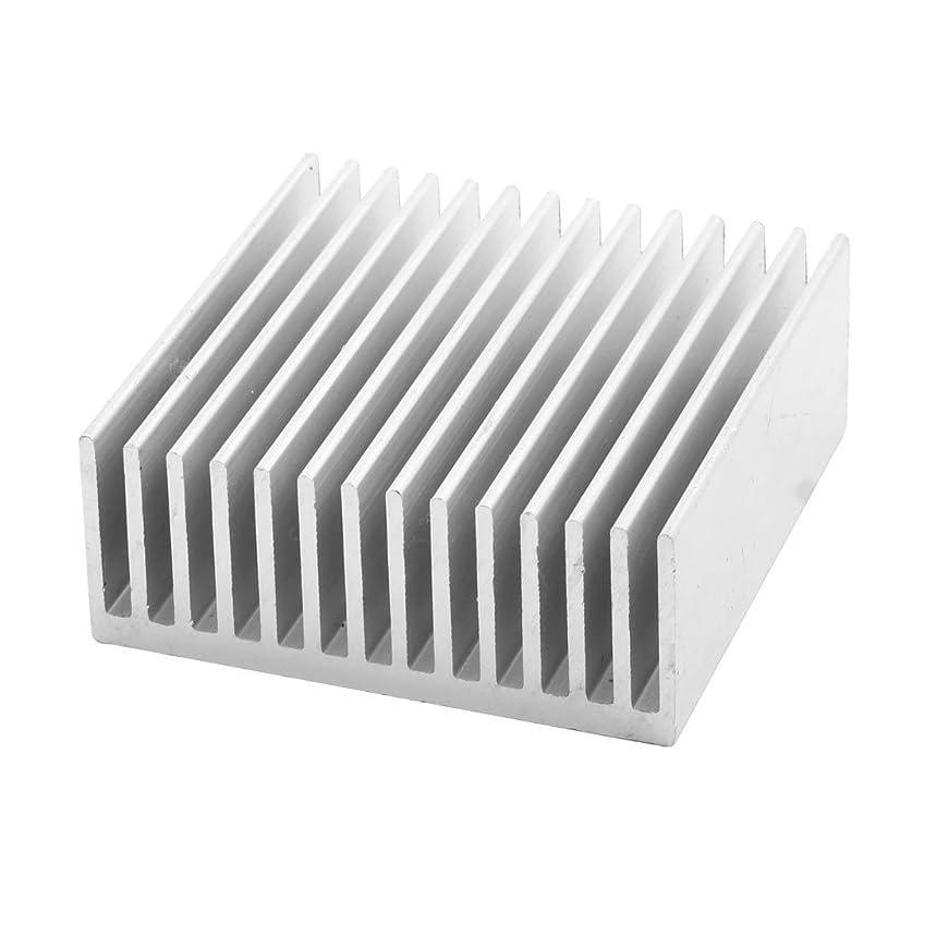 uxcell Aluminium Sink Cooling Fin Heatsink 50mm x 50mm x 20mm Silver Tone