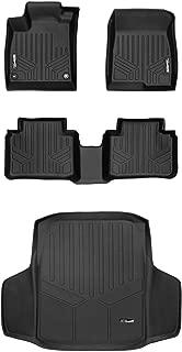 MAXLINER Floor Mats 2 Rows and Cargo Liner Set Black for Honda Accord Sedan (All Models)