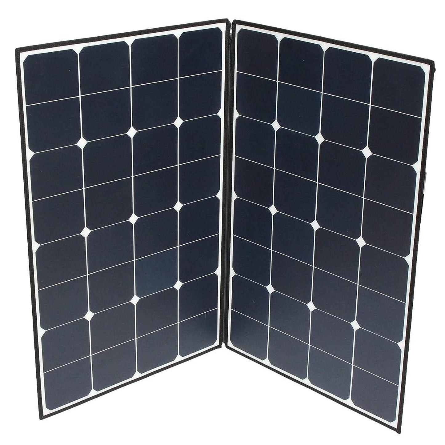 腸マディソン日没ソーラーパネル コネクタのために、2つのMC4 160W折りたたみポータブルソーラーパネル 太陽光発電 (Color : Black, Size : 84x54x2cm)