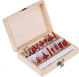 15 Pieces 6.35mm Woodworking Carbide Router Bit sets (1/4 inch Shank)
