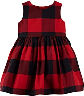 Carter's Baby Girls Red Buffalo Check Holiday Dress - 18 Months