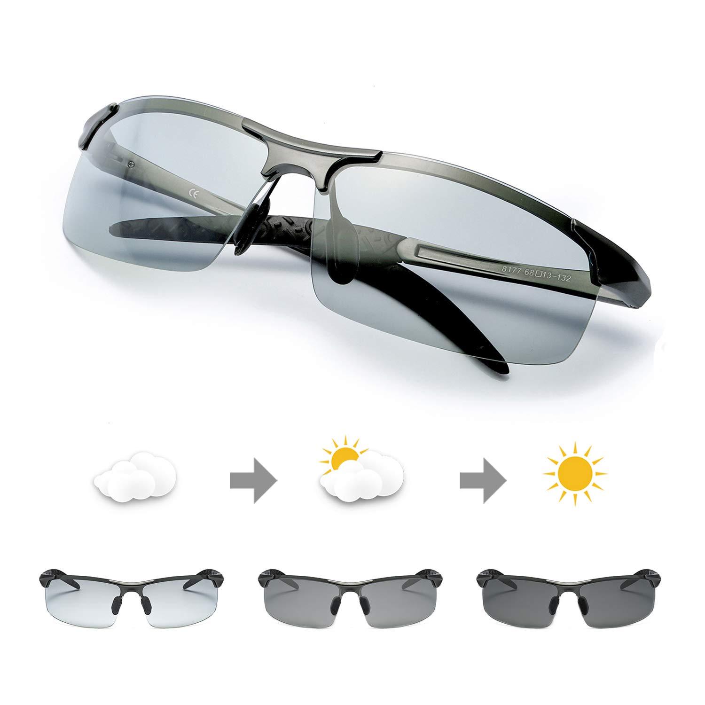 Photochromic Polarized Sunglasses Protection Metalgun