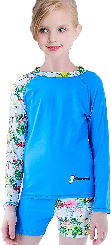 FAFSGOD Girls Swimsuit Long Sleeve Bathing Kids 50+ Free Popular shipping New Suit UPF UV