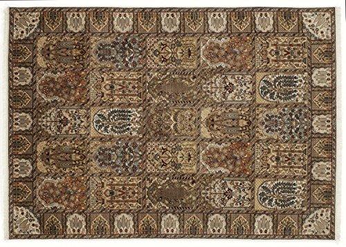 KIAN GHOM echter klassischer Orient-Felder-Teppich handgeknüpft in creme-creme, Größe: 60x90 cm