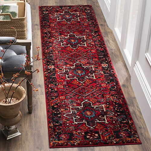 Safavieh Vintage Hamadan Collection VTH211A Red and Multi Runner, 2'2