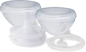 Freemie Freemie Closed System Breast Milk Collection Cups, Pump With Your Clothes On, On The Go, Anywhere, Anytime!, Clear, 25Mm And 28Mm Funnels