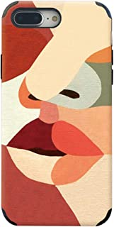 CUSTYPE Leather iPhone 7 Plus Case, iPhone 8 Plus Case for Women Girls, Print Abstract Art Oil Painting Series Phone Case Soft Slim Shockproof Back Cover Case for iPhone 7 Plus/8 Plus 5.5 inch Face