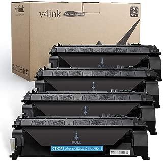 V4INK 4PK Compatible Toner Cartridge Replacement for HP 05A CE505A Toner Ink for HP Laserjet P2035 P2035n P2050 P2055 P2055d P2055dn P2055x, HP Pro 400 m401n m401dne m401dw M425dn M425dw Printer