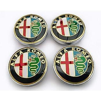 4 Tappi Coprimozzo ALFA ROMEO Giulietta Brera 159 147 156 GT GTV 60mm borchie