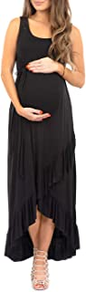 Mother Bee Maternity Dress with Ruffles and Adjustable Belt