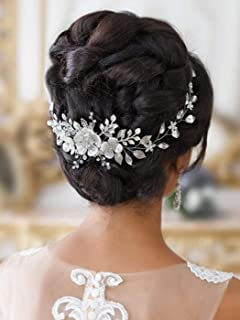 swarovski crystal bridal headband with ribbon