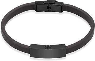 shajwo Cremation Jewelry Urn Leather Bracelet for Ashes for Women Men Memorial Keepsake Cuff Bracelet for Ashes