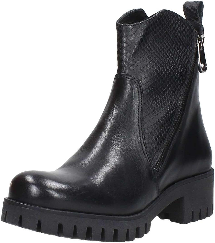 CAF schwarz FC116 t. dunkle Schuhe Frau Stiefel-Stummel Stiefel-Stummel Stiefel-Stummel Doppelreißverschluss  71ab64