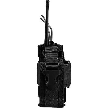 Black Lewong Multi-purpose Waist Pack Walkie Talkie Carry Case Holder Holster Shoulder Bag for outdoor