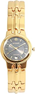 ساعة يد نسائية من اكيورت، دائرية، ذهبي، ALQ660