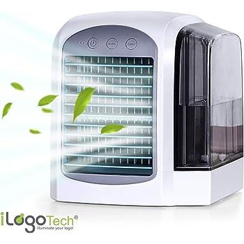 iLogoTech Actualizado 3-en-1 Mini Aire Acondicionado Portátil ...