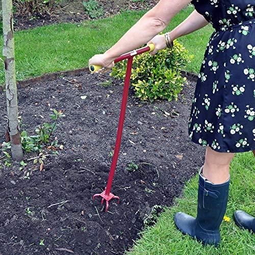 Kingfisher Pro Gold Garden Long Handle Twist Cultivator Weeder Soil Planting Bed