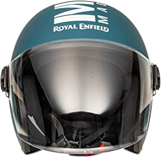 Royal Enfield Matt Blue Open Face with Visor Helmet Size (L)58 CM (RRGHEL000050)