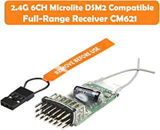 2.4G 6CH Microlite DSM2 Compatible Full-Range Receiver CM621 RC Airplane Premium Portable Easy Install UAV Part Pro by SMOXX