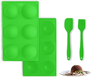 LVC Essentials – 6 Semi Sphere Hot Chocolate Bombs Mold   Pair of Silicone Molds with a Silicone Spatula and a Basting Bru...