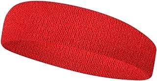 ROIY ヘッドバンド男性と女性汗吸収スポーツヘッドバンドヘッドバンドスポーツヘッドバンド汗止めバンドヘアバンド赤 (Color : 赤)