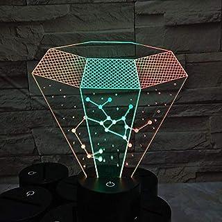 Luces de noche LED 3D Constelación de Diamond Archer Constelación visual de dos colores Luces estéreo visuales Luces ambientales coloridas de gradiente