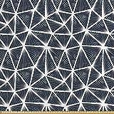 ABAKUHAUS Geometrisch Stoff als Meterware, Dreieckige