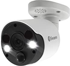 Swann 4K Spotlight Bullet IP Security Camera with Face Recognition 4-Pieces, 2-Way Audio