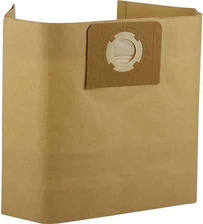 Kenekos - 12 bolsas de aspiradora adecuadas para Masko I K 606DW Aspiradora en seco y húmedo industrial, bolsas de papel con tapa de cartón estable, bolsa con 30 litros de volumen
