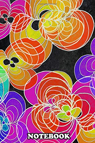 Notebook: Colorful Flowers 02 Digital Art , Journal for Writing, College Ruled Size 6' x 9', 110 Pages