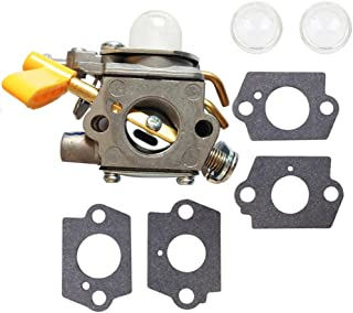 Savior C1U-H60 Carburetor 308054013 + Primer Bulb + Gaskets for Homelite Ryobi Poulan Craftsman 30cc 26cc Trimmer Blower ZAMA Carb Replace 308054012 308054004 308054008